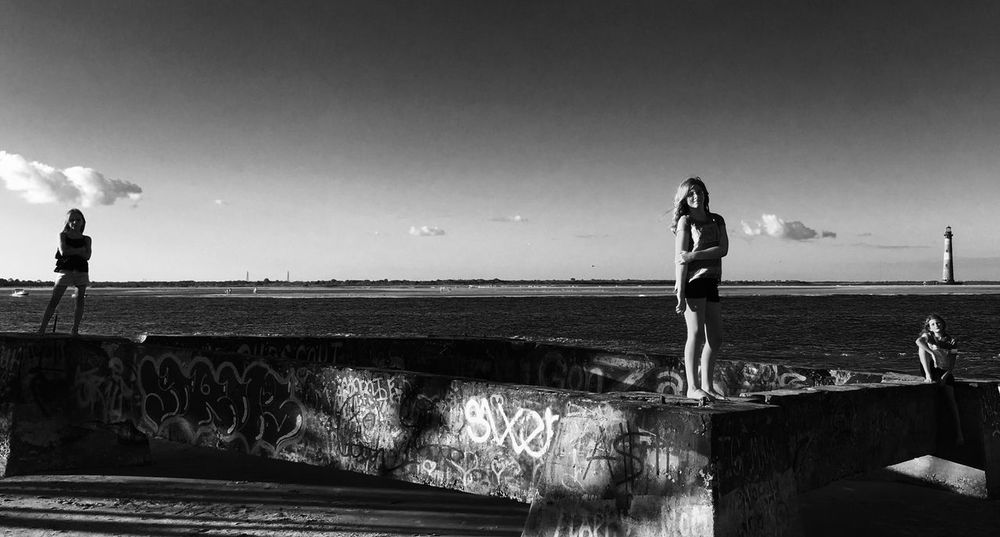 The Week On EyeEm EyeEmNewHere Lighthouse Graffiti Girls Friends Beach Folly Beach Blackandwhite Photography