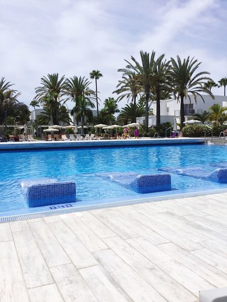 Gran Canaria Swimming Pool Water Poolside Palm Tree Cloud - Sky Sky Day Tourist Resort Tree Luxury Hotel Vacations Outdoors Blue Luxury Swimming No People Swimming Lane Marker Nature Spa