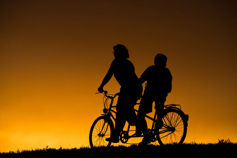Tandem Silhouette facebook.com/ervbaja Cycling Hoyafilters Nature Nikon Orange Color Outdoors Riding Sirui Sunset Tandem