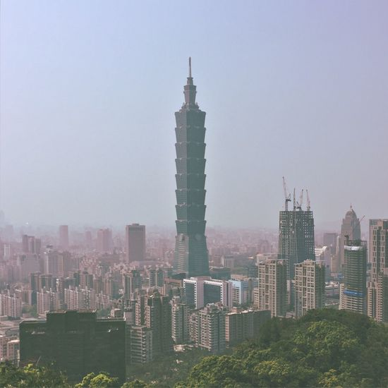 Taiwan Taipei 101 City Landmark Mountains