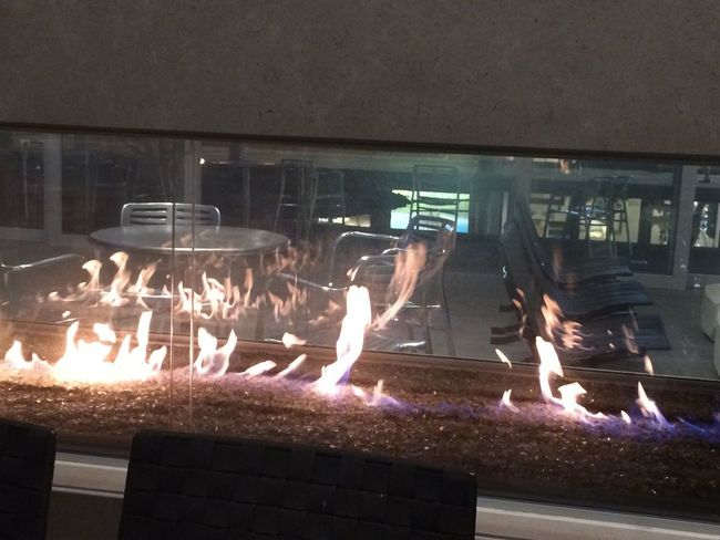 Fireplace in Oak brook Mall Burning Flame Food Food And Drink Freshness Heat - Temperature Illuminated Indoors  Large Group Of People Night People Real People