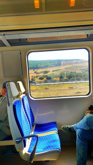 View From The Window Of The Train Vehicle Interior Transportation Sitting Mode Of Transport Day Vehicle Seat Vacations Indoors  Close-up Landscape Lands Train - Vehicle Train Window View Train Point Of View The Week On EyeEm Connected By Travel