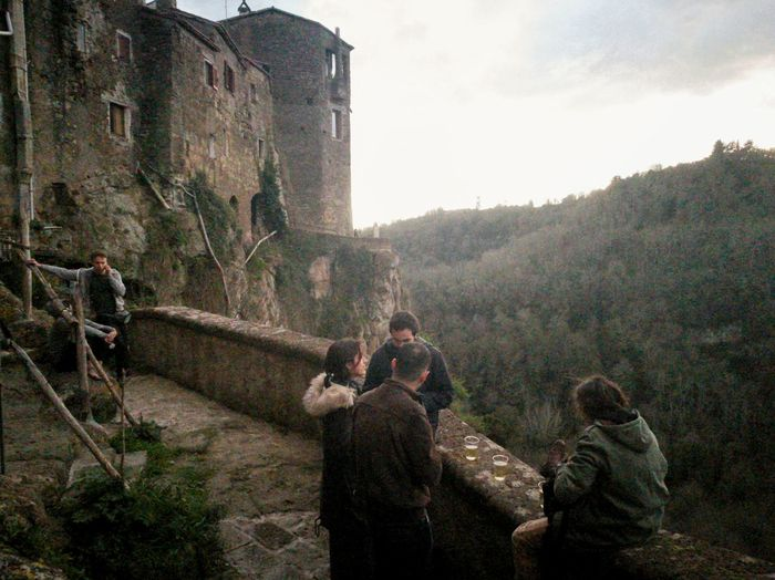 Chilling while daylight goes away Outdoors Shadows P9 Huawei Mobilephotography Day Places Italy Italianeography Calcata Town Ancient Ancient Architecture Nature