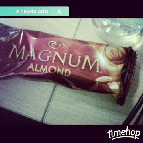 On this same day, 2 years ago, the newbies I was training gave me this. ? ? Paragonfraud ParagonICC Trainingdays Magnum sweettooth icecream QAduties perksofbeingatrainer