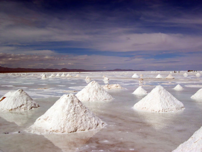 Panoramic View Of Salt Basin Against Sky