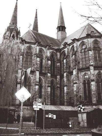 Kirche Church Marburg Marburg An Der Lahn Germany Deutschland Black & White Blackandwhite Black And White