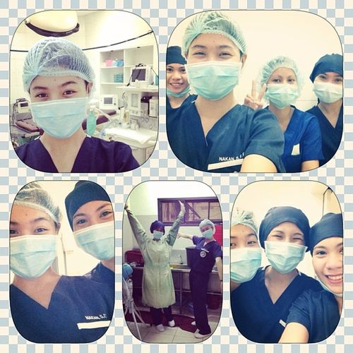 Loving our O.R. duty!?????? OperatingRoom Nursing FutureSurgeons Clingy group3