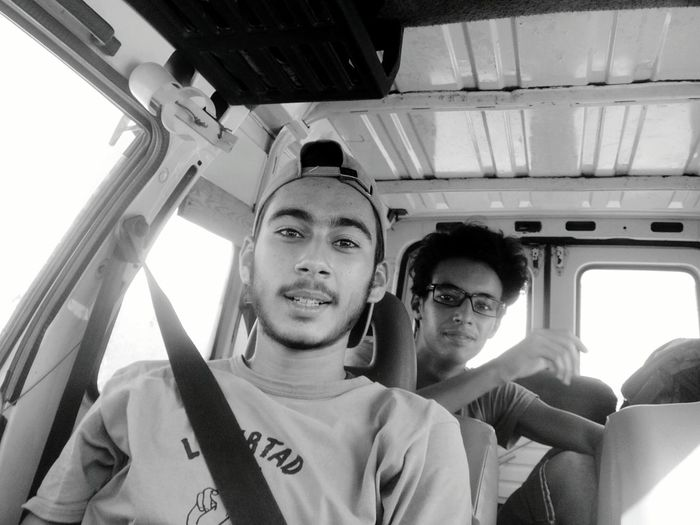 #Achieving_goals #Adventure #fulfill_dreams #roadtrip #selfportrait Adventure Friendship Looking At Camera Mode Of Transport Portrait Transportation Travel Two People Vacations Vehicle Interior Young Adult