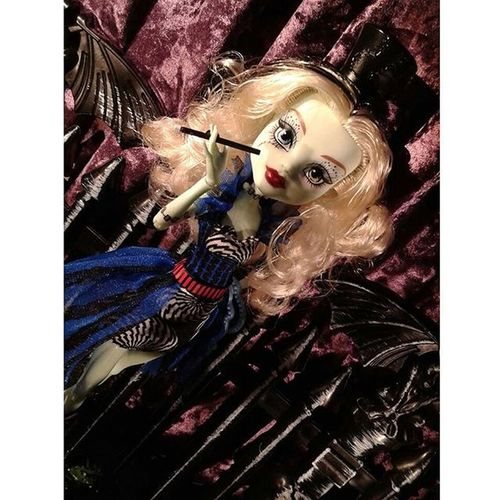 "Death is a Cabaret for FreakDuChic FrankieStein . (Yeah, it's a ""magic wand"", but it makes a convincing cigarette holder, too- you know, for kids!) ******************* Doll Dolls Dollstagram Dollphotogallery DollPhotography Toy Toys Toygroup_alliance Toyartistry Toyphotogallery Toyphotography Toyunion Toyplanet Toys4life Toyslagram Toyrevolution Toycrewbuddies Ata_dreadnoughts Monsterhigh Monster_High Mattel Wilkommen bienvenue"