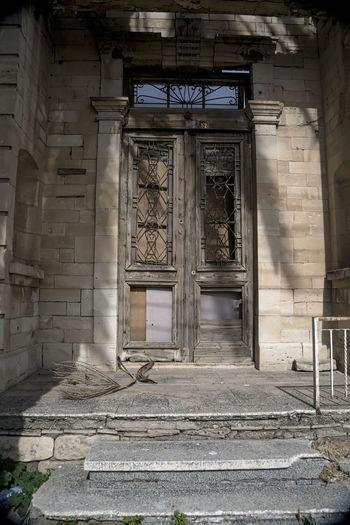 Old door Abandoned Architecture Building Exterior Built Structure Day Door Doorway No People Outdoors