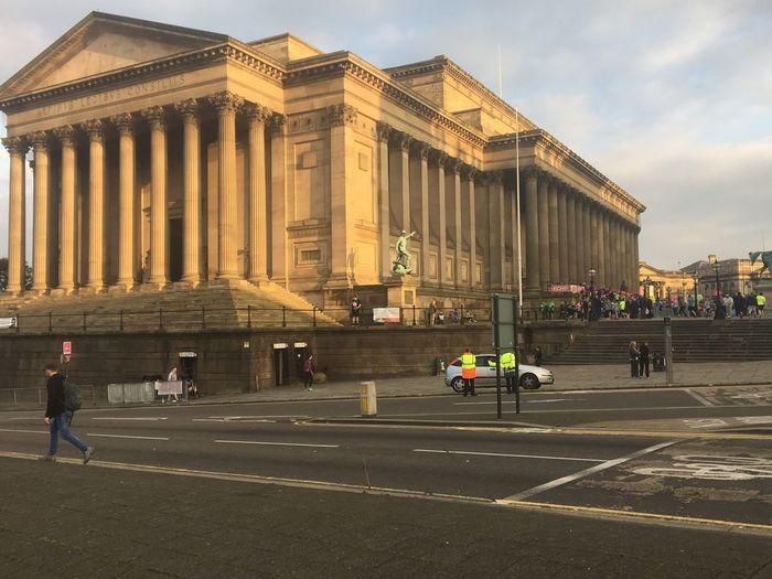 Liverpool Architecture Built Structure Building Exterior City Group Of People Travel Destinations Transportation
