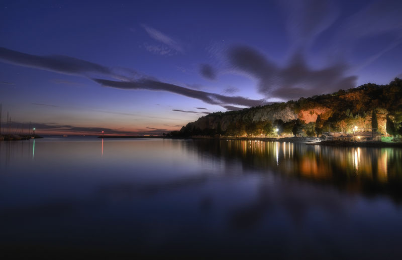 Trieste Beauty In Nature Cloud - Sky Italy Nature Night Reflection Sistiana Sky Water