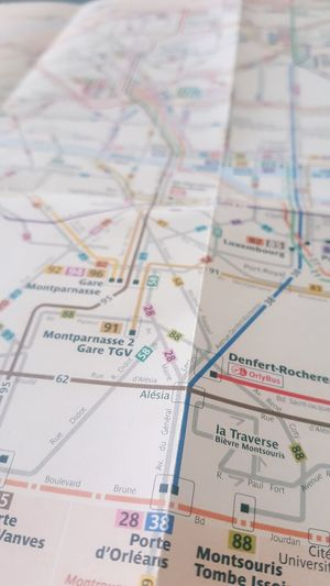 Paris Map No People Indoors  Full Frame Paper Close-up Text Backgrounds Still Life Guidance Communication High Angle View Multi Colored Direction Pattern Travel Education Planning Design City Map Bus Stop