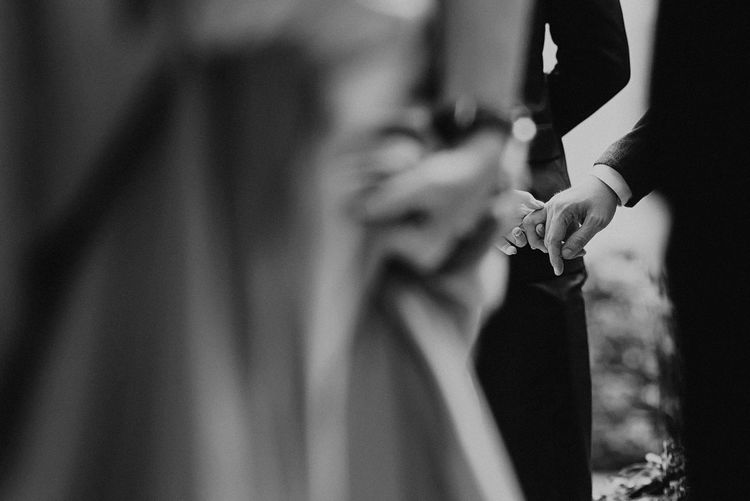 Take my Hand Celebration Couple Holding Hands Relationship Black And White Photography Bride Close-up Day Groom Human Hand Men Midsection Outdoors People Real People Take My Hand Togetherness Two People Wedding Ceremony Women Visual Creativity Human Connection