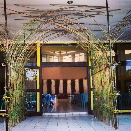 Gerbang masuk pelaminan -Rido&Lely's weddingaa..Bamboo Gate Wadding Nature xtraordinarynoya