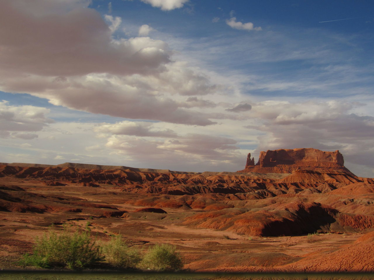 View Of Rock Formation On Arid Landscape
