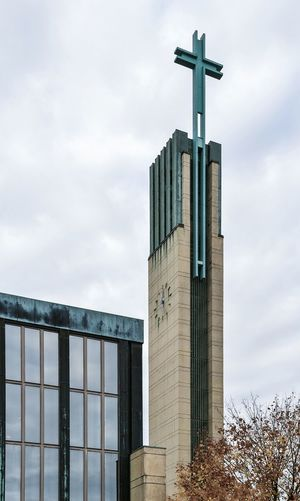 Lauttasaari Helsinki Church Architecture Architectural Photography Lens Correction Tower Clock Straight Façade
