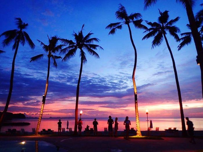 Palau Palau Pacific Resort 夕日 パラオ