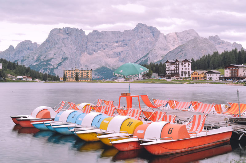 summer vibes Architecture Beauty In Nature Built Structure Cloud - Sky Day Inflatable  Lake Mode Of Transportation Moored Mountain Mountain Range Nature Nautical Vessel No People Outdoors Pedal Boat Scenics - Nature Sky Transportation Water Waterfront