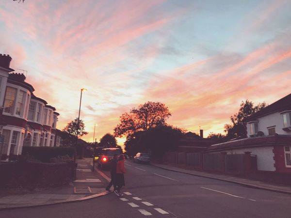 Architecture Street Sky Building Exterior City Road Built Structure Sunset Outdoors Car No People Tree Day Cloud - Sky