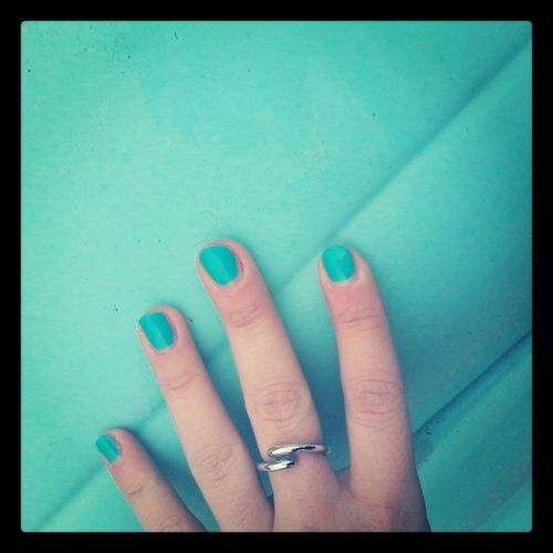 In tinta con una 500! :) Smalto Colortiffany 500car Car ring colour beautiful