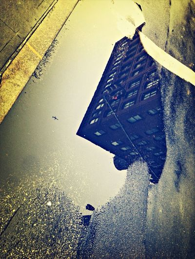 Puddle. IPhoneography Change Your Perspective Newyork