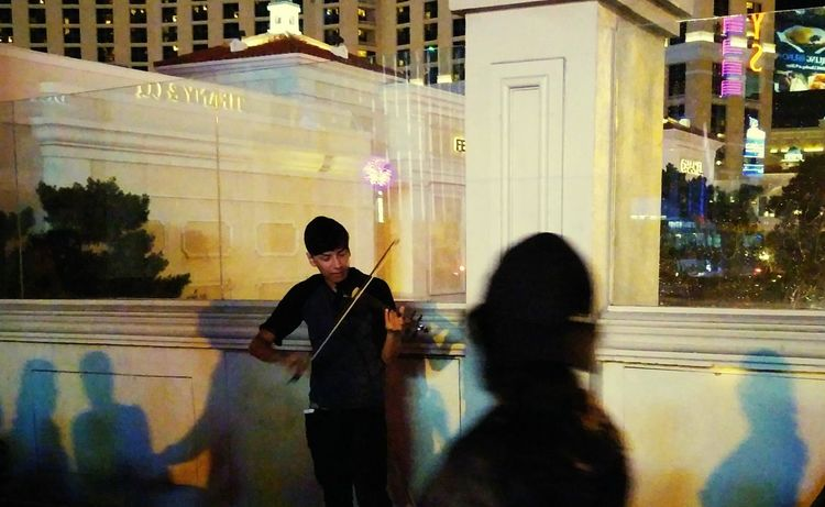Feel The Journey Hear The Music Street Performers Classical Music Violinist Teenager Las Vegas Bridge Diaries Taking Photos Solo Traveler! Solo Trip My Adventure Shadows 43 Golden Moments