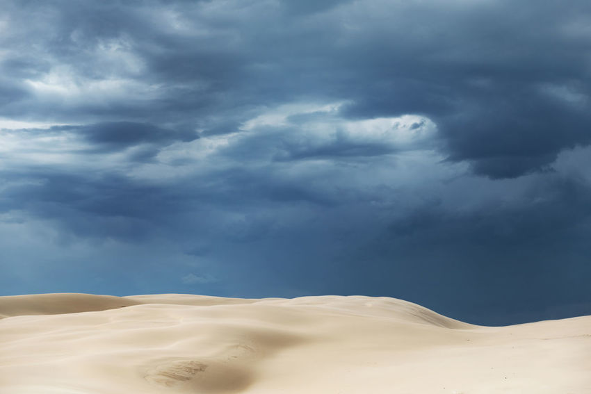 Proportions Australia Desert Dramatic Sky Dunes Abstract Blue Sky Cloud - Sky Clouds And Sky Contrast Contrasting Colors Desert Dramatic Clouds Dunescape Fading Landscape No People Peaceful Proportions Sand Sand Color Sand Dune Sand Dunes Softness Stockton Dunes Storm Cloud