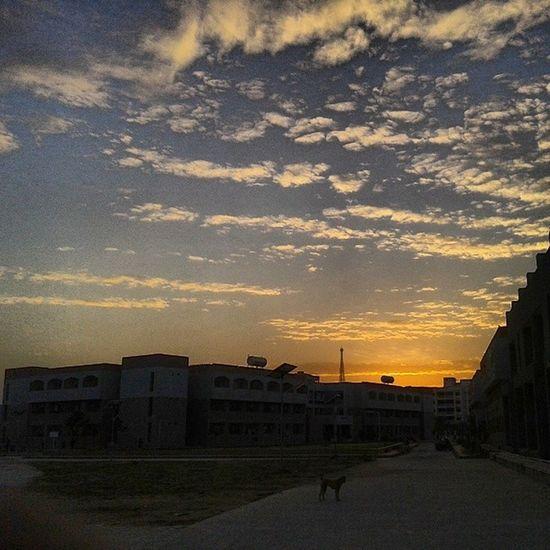 College Campus Vishwakarma Hostel evening cloud burst sun red random walk ahmedabad instagram_ahmedabad @instagram_ahmedabad @india_gram @instagram_gujarat instagram_gujarat awesome clouds instapic instaphotography