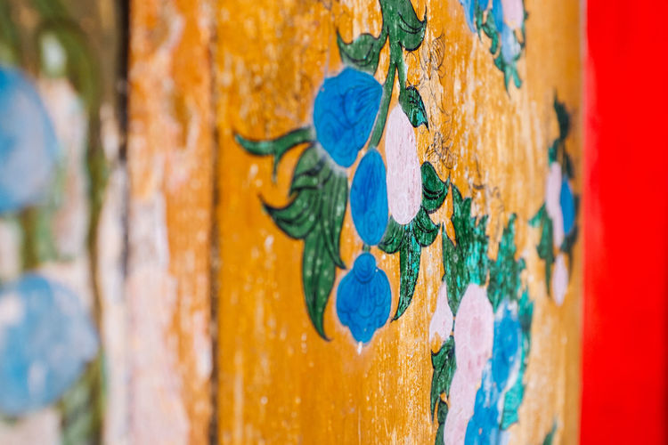 The Order Fujifilm_xseries Bangkok Thailand No People Close-up Blue Multi Colored Day Full Frame Wood - Material Creativity Paint Focus On Foreground Weathered Pattern Textured  Backgrounds Metal Art And Craft Outdoors Wall - Building Feature Peeling Off Door