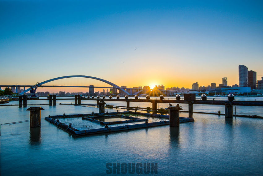 Architecture Blue Sky Building Exterior Built Structure City Clear Sky Sunset Water Waterfront