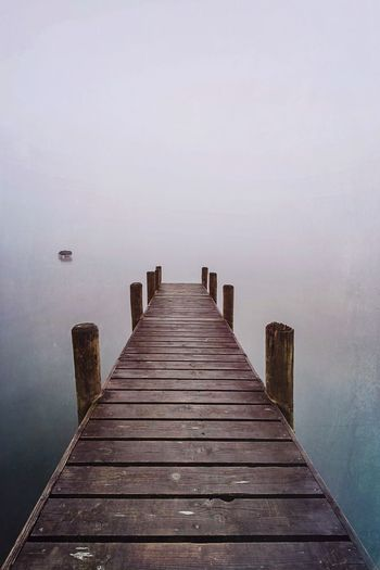 Solitude Jetty Pier No People Tranquil Scene Boardwalk Fog Water_collection Waterscape Lake View Wood - Material The Way Forward My Year My View Cumbria Lake District Scenics Nature_collection (null) Misty Beauty In Nature Outdoors Nature Water Lakeside Solitude The Great Outdoors - 2017 EyeEm Awards