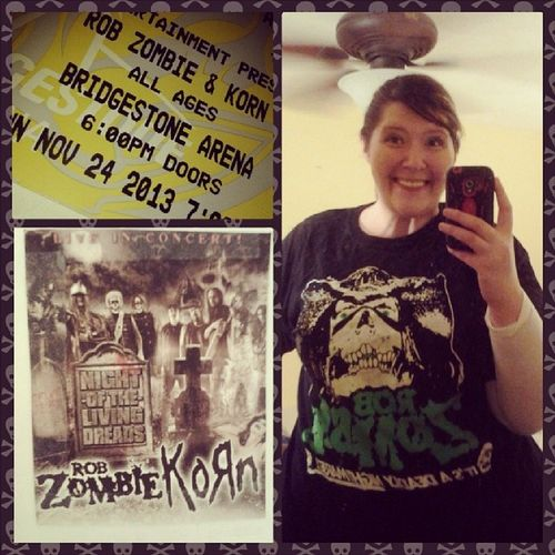 Oh, don't mind me, I'm just going to see Robzombie Korn NightOfTheLivingDreads Excited
