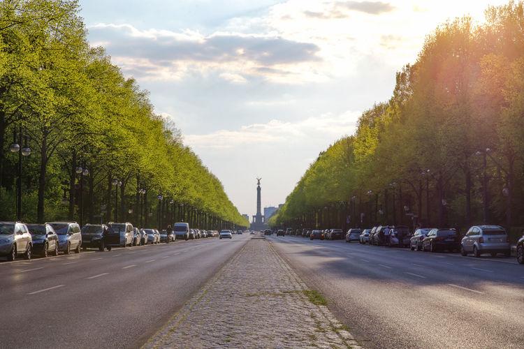 Cars Parked On Street At Tiergarten