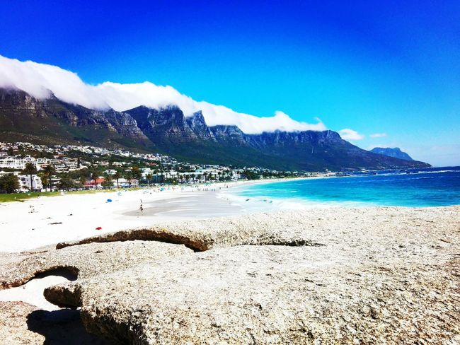 Camp's Bay 😍 Mountain Blue Water Sea Coastline Summer ☀ Beaches <3 Southafrica Mountain Season  Scenics Calm Blue First Eyeem Photo Water