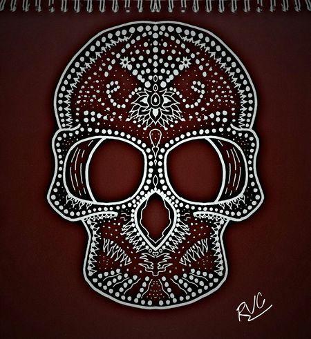 Drawing Dibujando Dibujodeldia Doodle Skullcandy Skull Calaca Randallvillarrealchaves