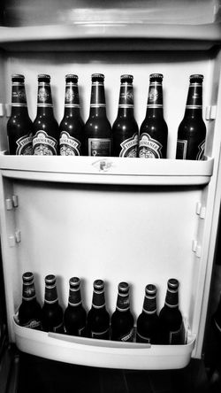 Got some beer!! In My Fridge Black And White Monochrome