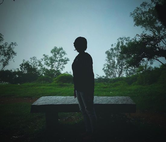 Childhood Silhouette Tree One Person Growth Boys Real People Nature Outdoors Sky Day People Iphone7photography EyeEm Selects PhonePhotography Lifestyles Nature Potrait Nandihills Banglore Grass Standing Iphonephotoacademy One Animal Girl
