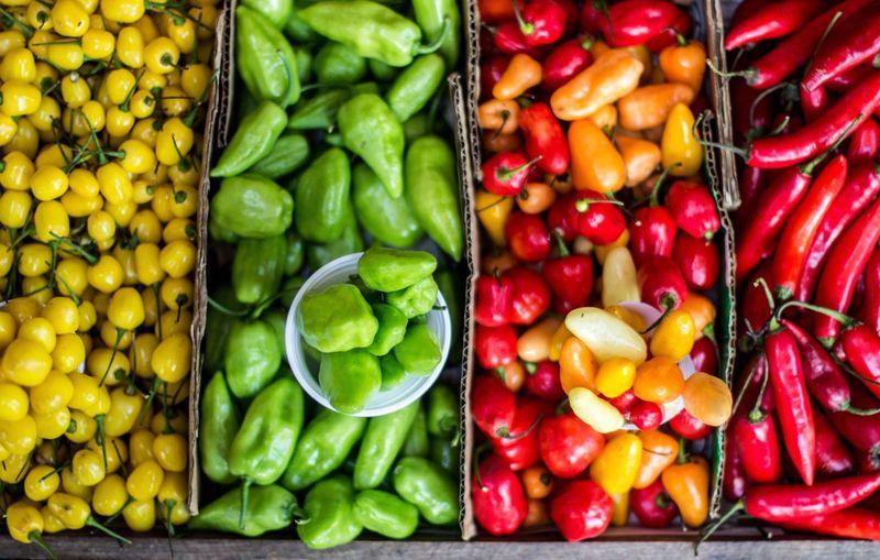 Full Frame Shot Of Multi Colored Vegetables