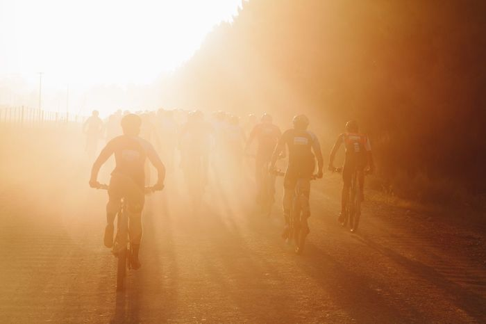 Riding Sunlight Real People Men Outdoors Road Sky Sun Day Cyclist Cape Epic Cape Town South Africa