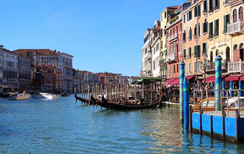 Architecture Blue Building Exterior Canal Canal Grande In San Marco Square Charming City Cultures Day Gondola - Traditional Boat Gondolier Nautical Vessel No People Outdoors Renaissance Scenics Sky Tourism Travel Destinations Vacations