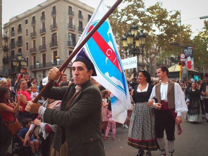 La Merce Festival Catalunya Catalonia Flag Festival Traditional Traditional Culture Traditional Clothing Parade SPAIN Barcelona Barcelona, Spain Taking Photos Sightseeing Gigantes Ciutadella