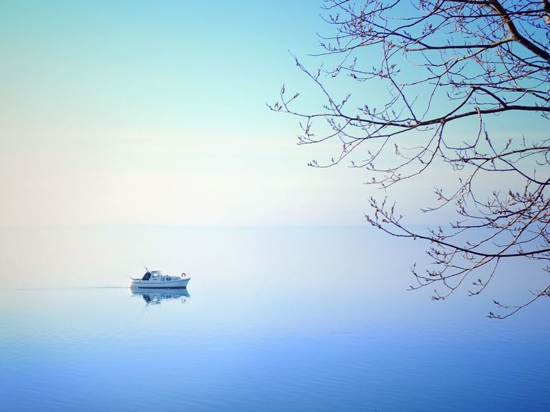 Lake Vättern Zen. Nature Beauty In Nature Water Scenics Sweden Beauty In Nature Calm Zen Blue Lake Vättern Tranquility Sky FujiX100T . Lake Vättern, Sweden Live For The Story Let's Go. Together.