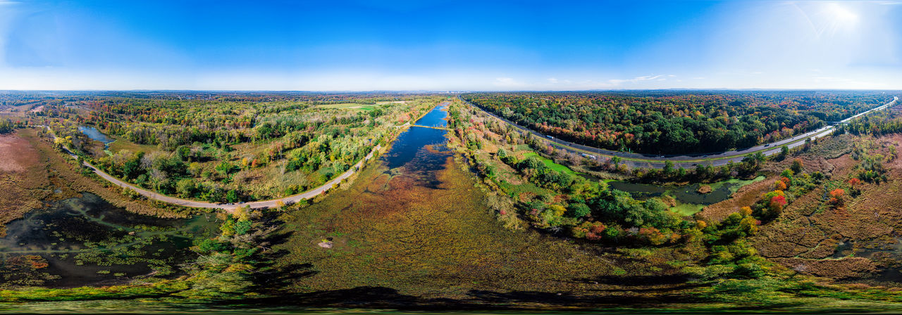 360 Degree Panorama Panorama Springfield Massachusetts Autumn Beauty In Nature Equitangular Landscape Nature Nature Conservancy No People Outdoors Scenics Wildlife Preserve Perspectives On Nature