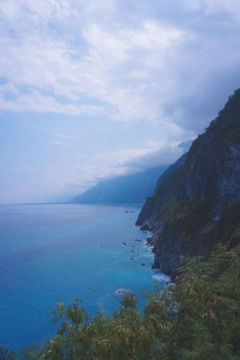 Shade of blue. Travel Qingshui Cliff Hualien Taiwan Sea Water Scenics - Nature Sky Beauty In Nature Tranquil Scene EyeEmNewHere Mountain Nature Horizon Over Water Beach Cloud - Sky First Eyeem Photo