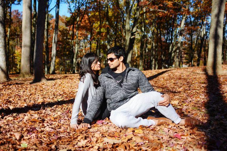 Couple fall