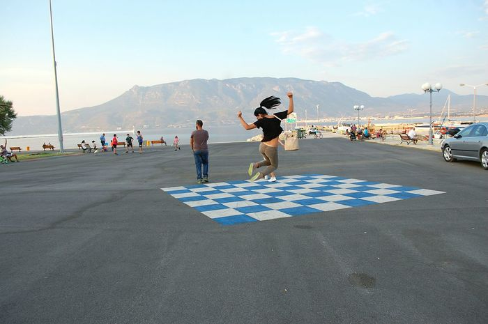 Corinth Greece Corinth Greece Happiness Happy People Jumping The Tourist Photography In Motion Here Belongs To Me