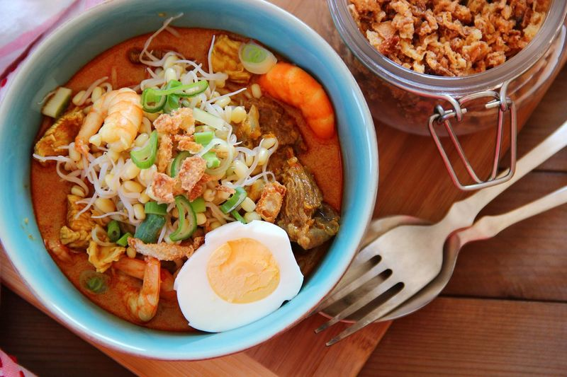 Malaysian curry noodles. It tastes like home. Foodie Curry Noodles Malaysian Food In My Mouf Homecooked