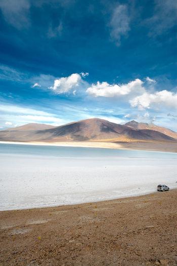 Tuyajto lagoon and salt lake, altiplano, atacama desert, antofagasta region, chile, south america