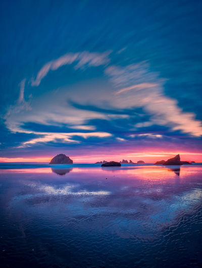 Dancing clouds! Bandon, Oregon Cloudscape Bandon Beauty In Nature Cloud - Sky Clouds Clouds And Sky Dramatic Sky Dusk Horizon Horizon Over Water Idyllic Long Exposure Nature No People Purple Romantic Sky Scenics - Nature Sea Sky Sunset Tranquil Scene Tranquility Water Waterfront
